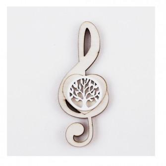 Calamita Magnete Cuore Chiave di Sol Violino Albero della Vita Tondo in legno Musica Segnaposto