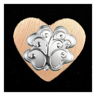 Calamita Magnete Cuore in legno Quadrifoglio Portafortuna Albero della Vita Segnaposto Pensierino Confettata