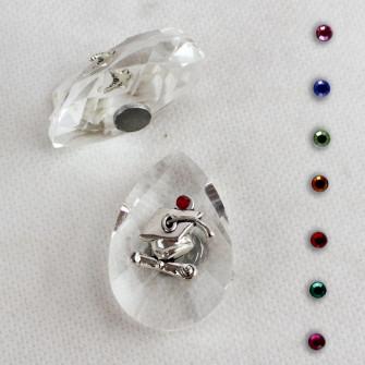 Calamita Magnete in Cristallo con Cappello Laurea Pergamena Confettata Segnaposto