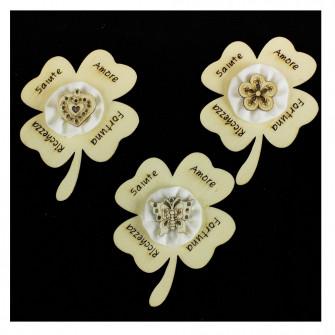 Calamita Magnete Quadrifoglio Cuore Fiore Farfalla Segnaposto