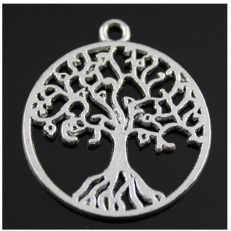 Ciondolo Ciondoli Charm Charms Albero della Vita Grande Life Tree Confettata Fai da Te