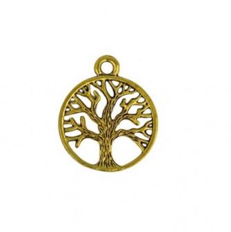 Ciondolo Ciondoli Charm Charms Albero della Vita Oro Piccolo Life Tree Confettata Fai da Te