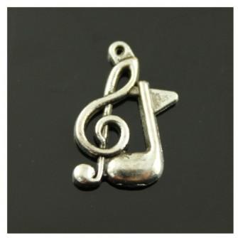 Ciondolo Ciondoli Charm Charms Chiave di Violino Sol Nota Musicale Musica Confettata Fai da Te