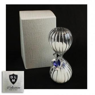 Clessidra in vetro con Farfalla in cristallo Tema Tempo per Matrimonio Comunione Cresima