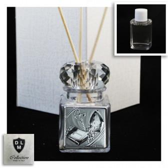 Diffusore Profumatore con Anello in cristallo per Cresima Barattolo Bottiglia Profumo
