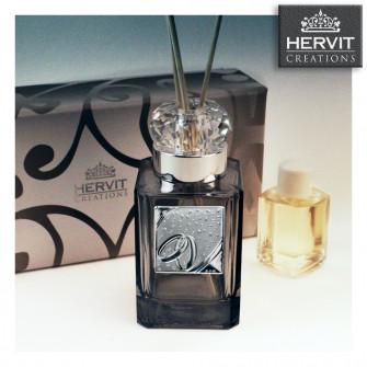 Diffusore Profumatore Hervit con Anello in cristallo e Coppia Fedi Nozze Matrimonio Bottiglia Profumo Ambiente