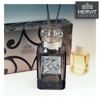Diffusore Profumatore Hervit con Anello in cristallo e Sacra Famiglia Bottiglia Profumo Ambiente