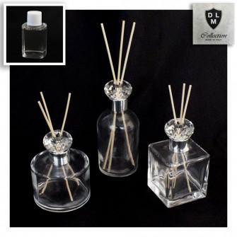 Diffusore Profumatore Silver con Anello Blasone in cristallo Bottiglia Profumo Ambiente