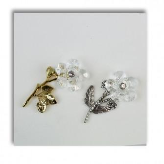 Fiore in cristallo Argento Segnaposto Confettata 25 50 Anniversario Nozze