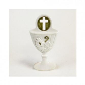 Icona Calice Comunione con Crocifisso Oro in resina per Cresima