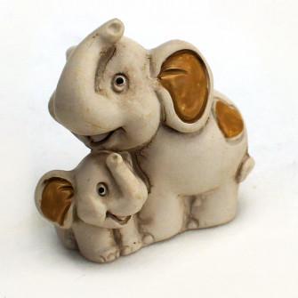 Icona Mamma Elefante Elefantino Cucciolo Battesimo Nascita Comunione Resina Segnaposto
