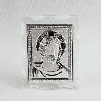 Icona in vetro con Gesù Nozze Battesimo Comunione Confettata