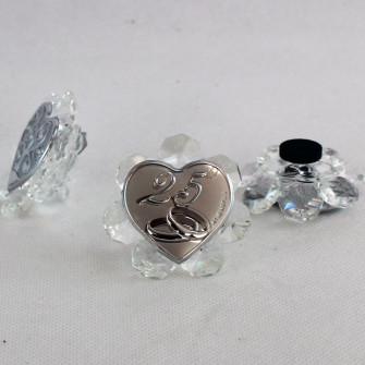 Icona in cristallo 25 Anniversario Matrimonio