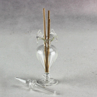 Kit 12 pezzi Profumatore Bottiglia Porta Profumo Trasparente vetro soffiato W010B