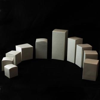Kit 6 pezzi scatola in cartoncino colore panna per confezioni (dimensione a scelta)
