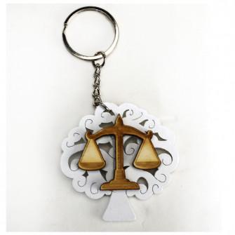 Portachiavi Ciondolo in legno Albero della Vita Laurea in Giurisprudenza Avvocato Bilancia