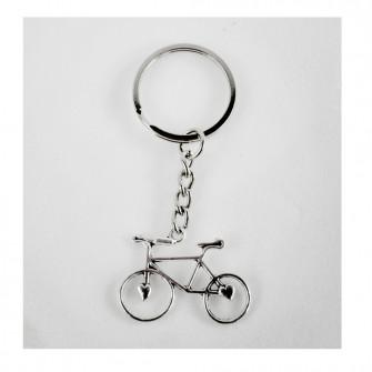 Portachiavi Ciondolo in Metallo Bici Bicicletta Cuore Cuori Love Confettata Segnaposto