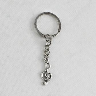 Portachiavi Ciondolo in Metallo Chiave di Violino Sol Musica Confettata Segnaposto