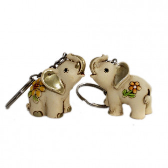 Portachiavi-Ciondolo-in-Resina-con-Elefante-Elefantino-Portafortuna-Confettata-Segnaposto