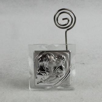 Portafoto Memo Clip Icona in cristallo Madonna con Bambino