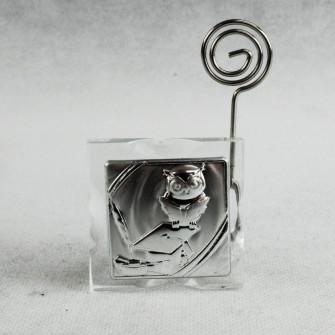 Portafoto Memo Clip Icona in cristallo per Laurea