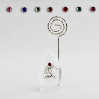 Portafoto Memo Clip in Cristallo con Cappello Laurea Pergamena Confettata Segnaposto