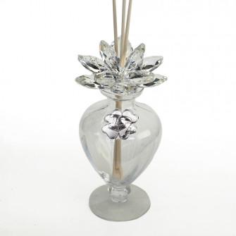 Profumatore in Vetro Fiore in Cristallo Quadrifoglio Laurea Cappello Tocco Pergamena Tesi Diffusore Profumo