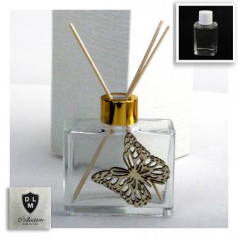Profumatore in Vetro Icona Farfalla Butterfly Matrimonio Battesimo Comunione Diffusore per Ambienti di Profumo