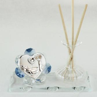 Profumatore in vetro soffiato e cristallo per Battesimo