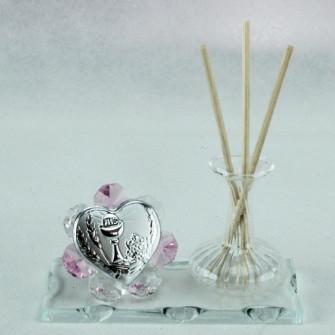 Profumatore in vetro soffiato e cristallo per Comunione