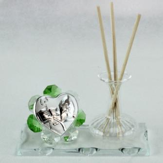 Profumatore in vetro soffiato e cristallo per Cresima