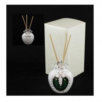 Profumatore per Ambienti Diffusore Profumo in ceramica Colorato Verde Laurea Nozze Matrimonio Comunione