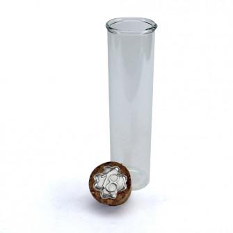 Provetta Portaconfetti in vetro Shabby Chic Quadrifoglio Festa 18 Anni Diciottesimo Compleanno con Tappo Sughero Confettata