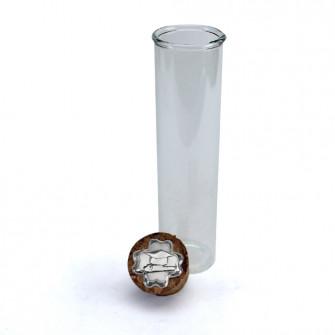 Provetta Portaconfetti in vetro Shabby Chic Quadrifoglio Laurea Cappello Tocco Pergamena Tesi con Tappo Sughero Confettata