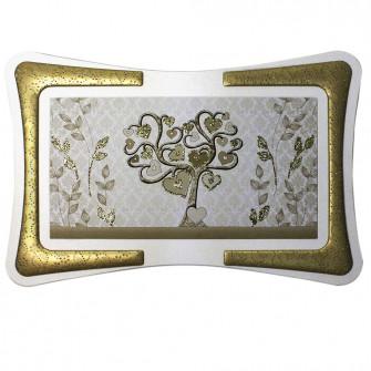 Quadro Arredo Gold Life Tree Albero della Vita Soggiorno Salotto Camera da Letto Cucina Ufficio Bar Ristorante Regalo Misure 90X60