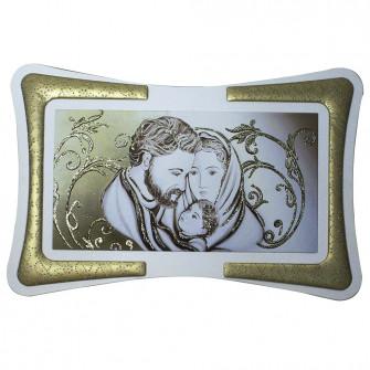 Quadro Arredo Gold Sacra Famiglia Soggiorno Salotto Camera da Letto Cucina Ufficio Bar Regalo Misure 90X60