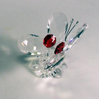 Farfalla in cristallo brillante vari colori