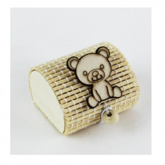 Scatola Portaconfetti in Bambu Orso Orsetto Nascita Bambù Confettata Segnaposto