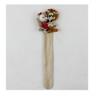 Segnalibro in legno Coppia Sposi Nozze Innamorati Matrimonio Segnaposto Pensierino Confettata