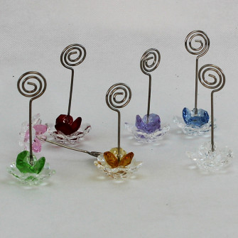 Portafoto Fiore in cristallo