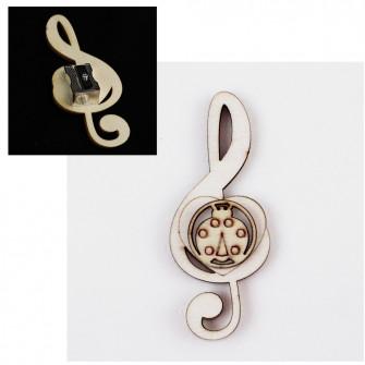 Temperamatite Cuore Chiave di Sol Violino Coccinella Portafortuna in legno Musica Segnaposto Musica Temperino