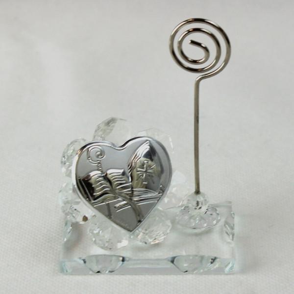 Portafoto Memo Clip in cristallo per Cresima