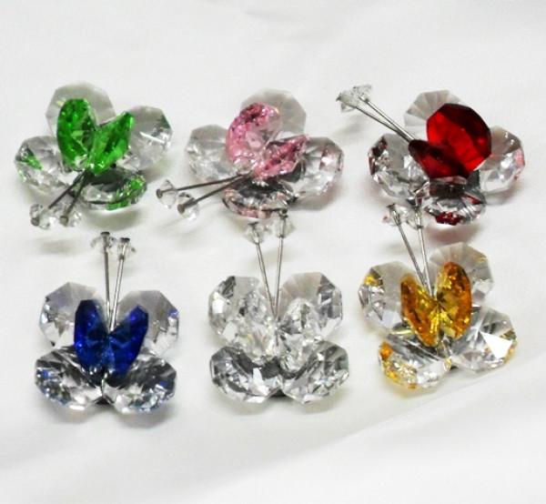Calamite farfalle in cristallo