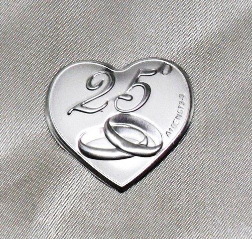 Dlm6899 calamite a cuore per 25 anniversario di for Anniversario matrimonio 25